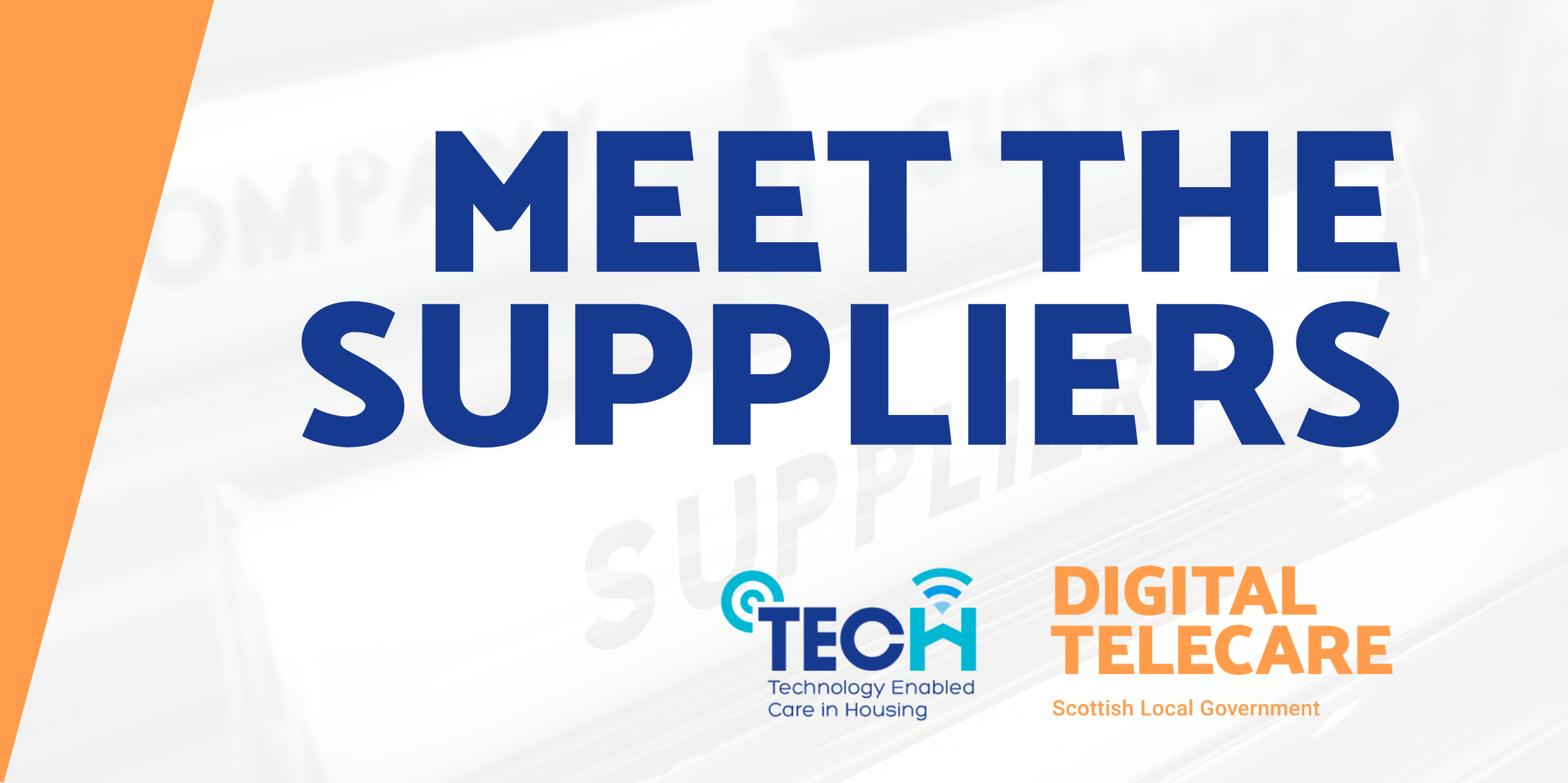 MEET THE SUPPLIERS: TWO-PART SESSION